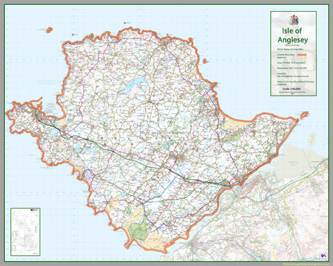 Isle Of Anglesey County Map