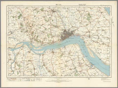 Hull - Ordnance Survey of England and Wales 1920 Series