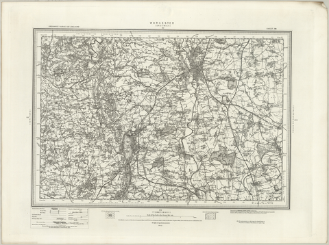 Worcester (Droitwich) OS Map