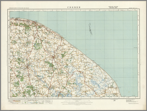 Cromer - Ordnance Survey of England and Wales 1920 Series