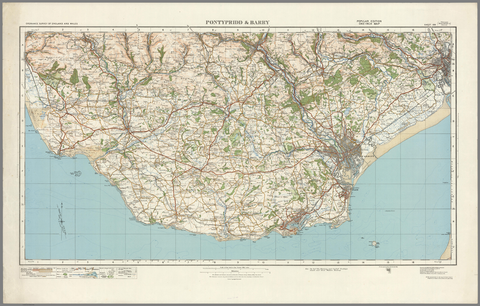 Pontypridd & Barry - Ordnance Survey of England and Wales 1920 Series