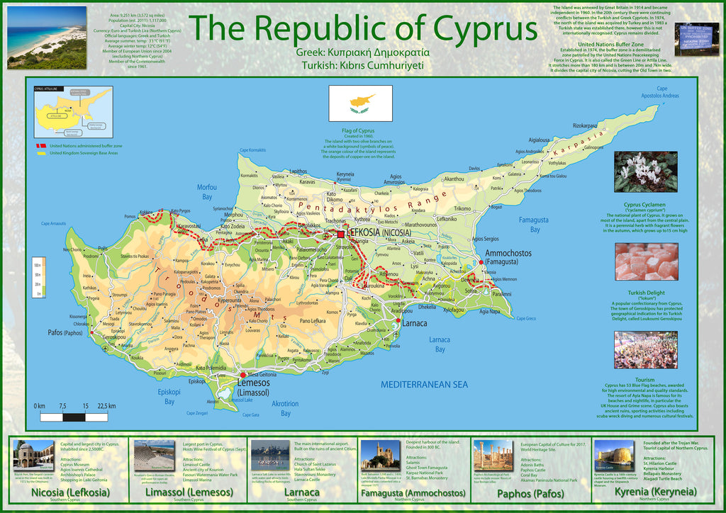 Illustrated map of cyprus i love maps illustrated map of cyprus gumiabroncs Image collections