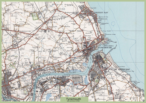 Tynemouth and Environs Ordnance Survey Map 1920