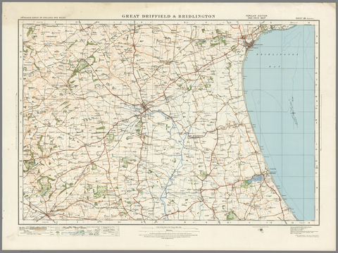 Great Driffield & Bridlington - Ordnance Survey of England and Wales 1920 Series