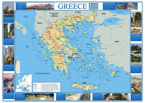 Illustrated Map of Greece