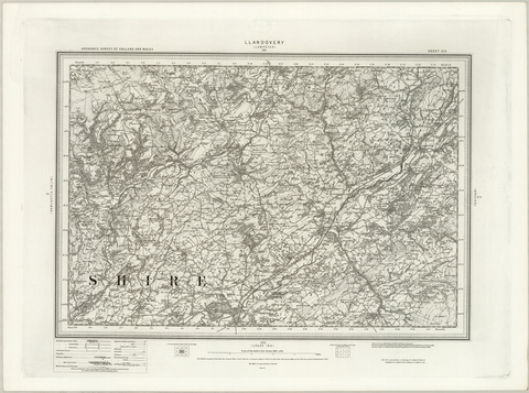Llandovery (Lampeter) OS Map