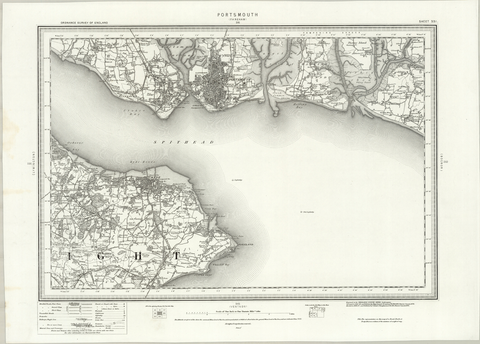 Portsmouth (Fareham) OS Map