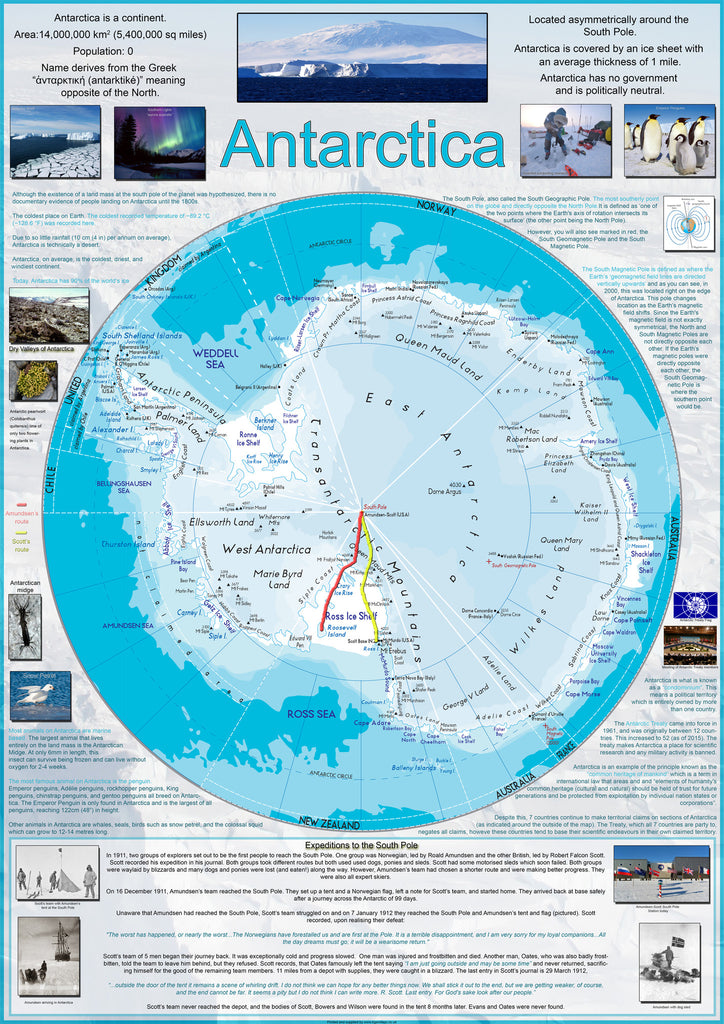 Map poster of antarctica i love maps map poster of antarctica gumiabroncs Images
