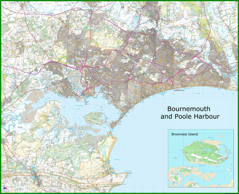 Bournemouth and Poole Harbour Coastal Area Map