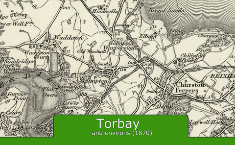 Torbay and Environs Ordnance Survey Map 1870