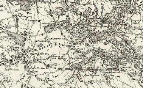 Ashbourne (Buxton) 1890 OS Map