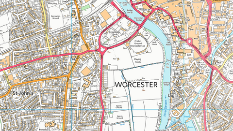Worcester Street Map