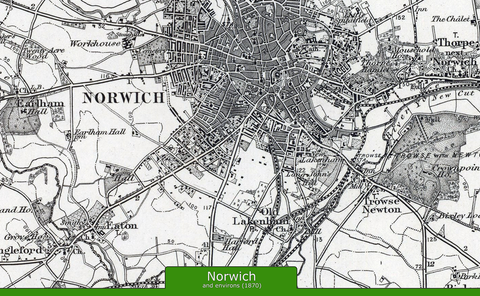 Norwich and Environs Ordnance Survey Map 1870