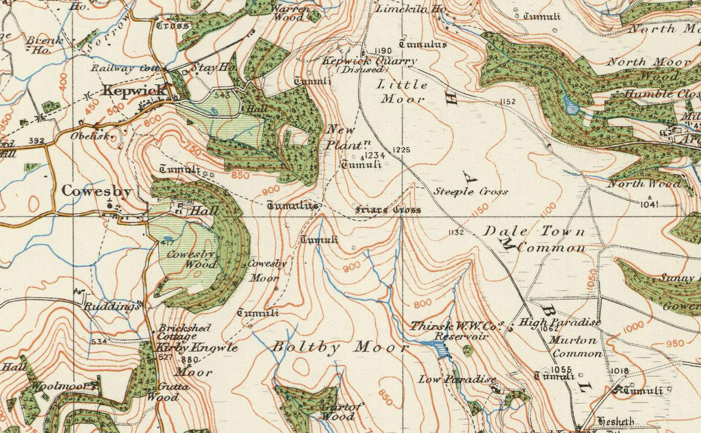 Map Of England 850.Pickering Thirsk Ordnance Survey Of England And Wales 1920