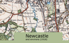 Newcastle and Environs Ordnance Survey Map 1920