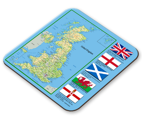 United Kingdom Map Placemat