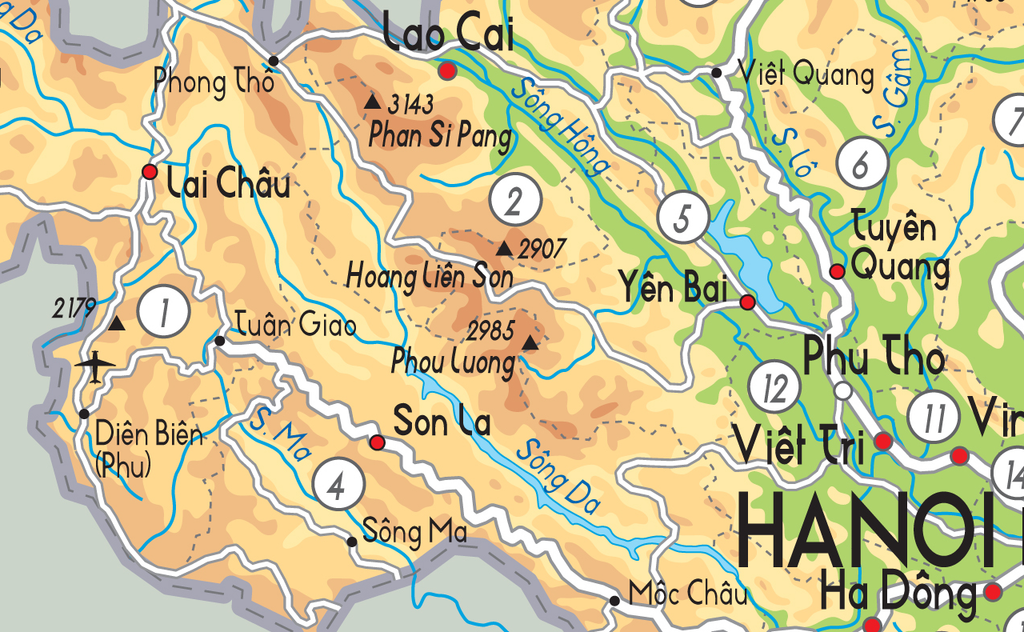 Vietnam Physical Map · Vietnam Physical Map ...