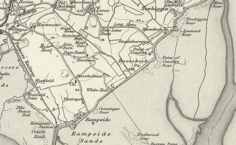 Barrow in Furness (Ulverston) 1890 OS Map