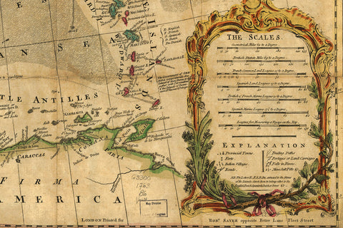 18th Century Map Of North America