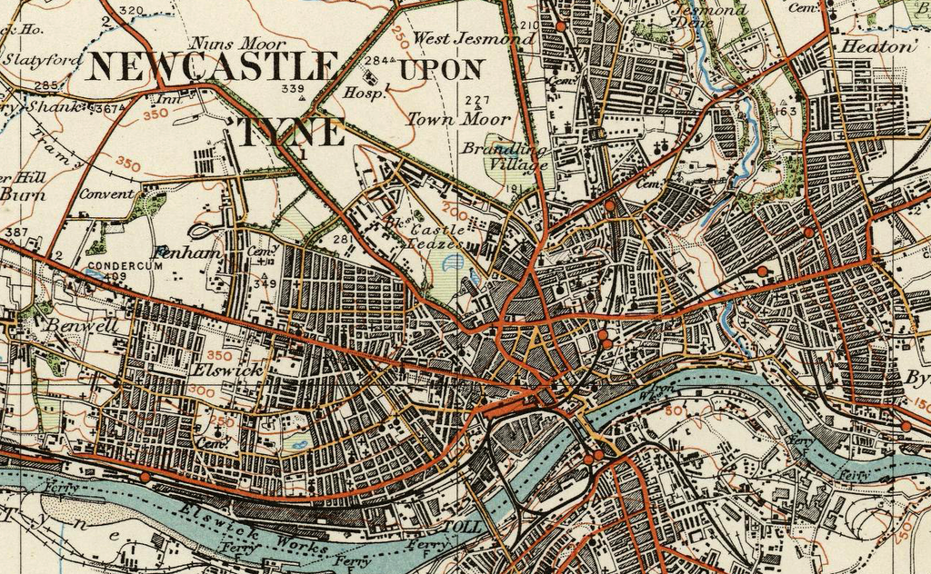 Newcastle Upon Tyne Ordnance Survey Of England And Wales 1920