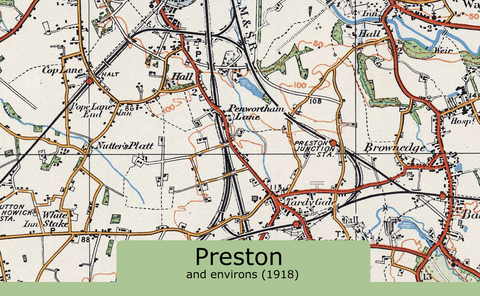 Preston and Environs Ordnance Survey Map 1920