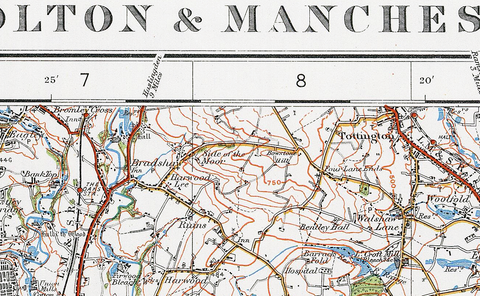 Bolton and Manchester 1920 Map I Love Maps
