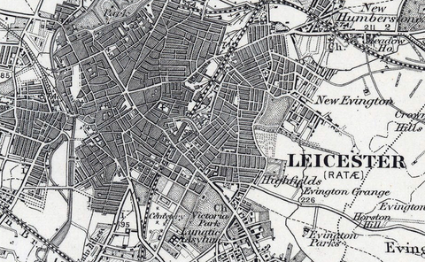 Leicester and Environs Ordnance Survey Map 1870