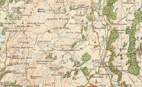 Windermere & Ulverston - Ordnance Survey of England and Wales 1920 Series