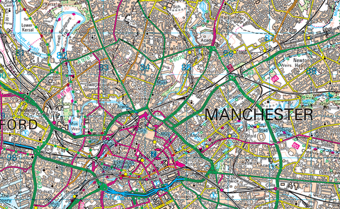Manchester and Surrounding Areas Map