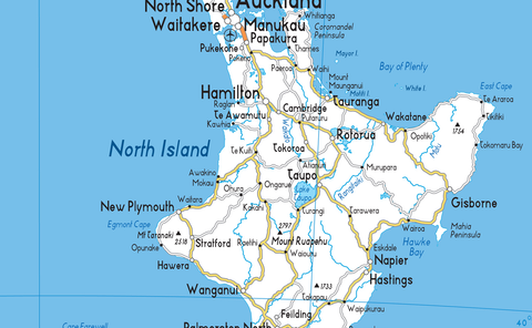 New Zealand Road Map