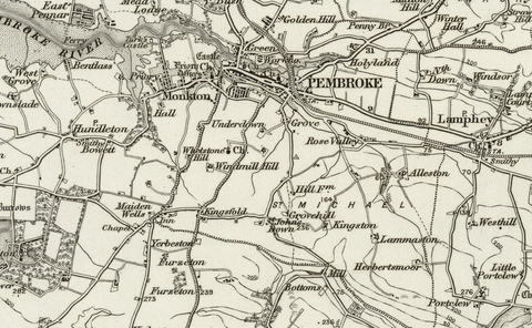 Pembroke (Haverfordwest) OS Map