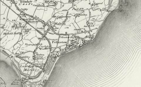 Felixstow (Woodbridge) OS Map