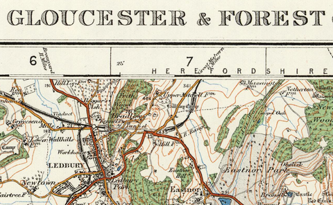 Gloucester & Forest of Dean - Ordnance Survey of England and Wales 1920 Series