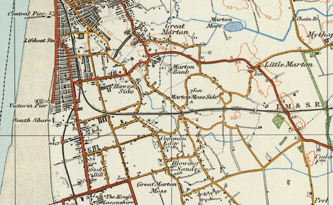 Preston, Southport & Blackpool - Ordnance Survey of England and Wales 1920 Series