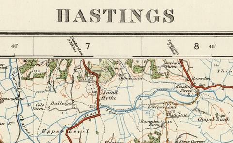 Hastings - Ordnance Survey of England and Wales 1920 Series