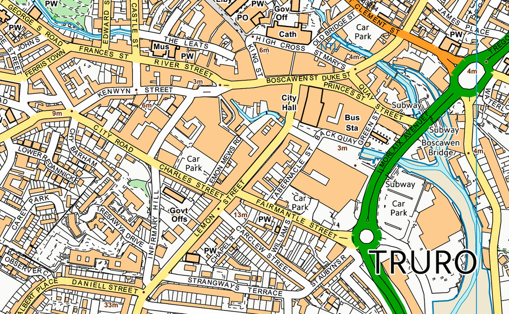 Truro Street Map I Love Maps