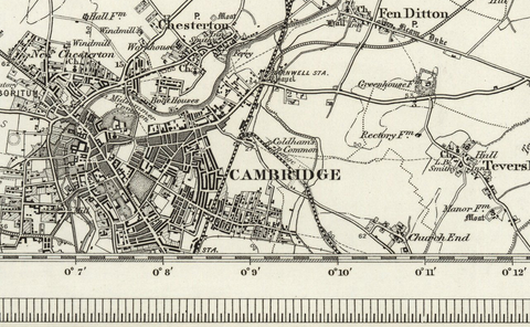 Cambridge (Ely) OS Map