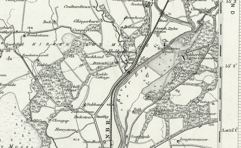 Longstown OS Map