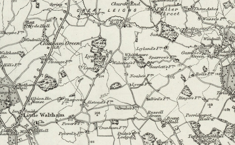 Chelmsford (Braintree) OS Map