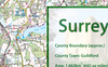 Surrey County Map 50k