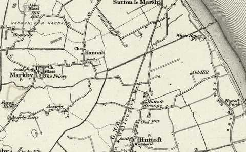 Alford (Saltfleet) 1890 OS Map
