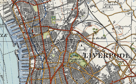 Liverpool 1920 Ordnance Survey Map I Love Maps