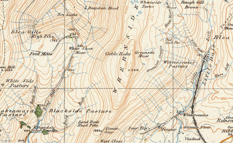 Kirby Lonsdale & Hawes - Ordnance Survey of England and Wales 1920 Series