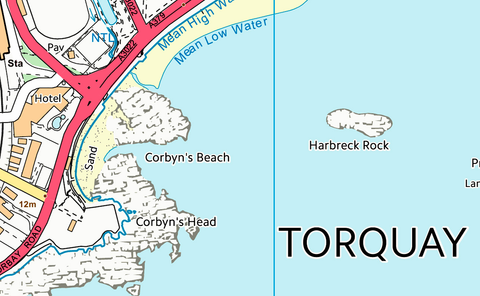 Torquay Street Coastal Area Map