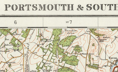 Portsmouth & Southampton - Ordnance Survey of England and Wales 1920 Series