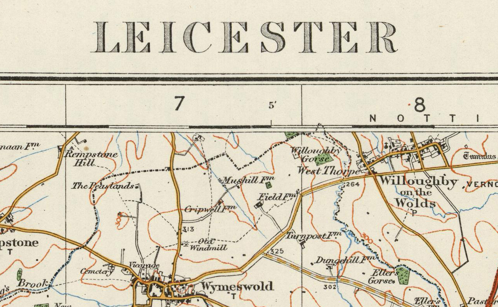Map Of England Leicester.Leicester Ordnance Survey Of England And Wales 1920 Series I