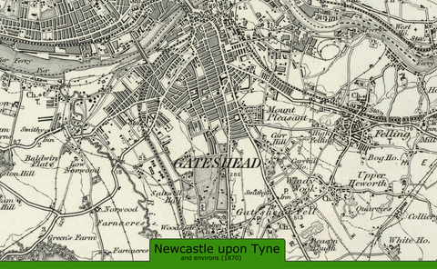 New Castle and Environs Ordnance Survey Map 1870