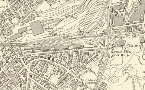 Birmingham Central and East 1905 Map