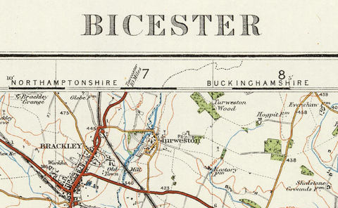 Bicester - Ordnance Survey of England and Wales 1920 Series