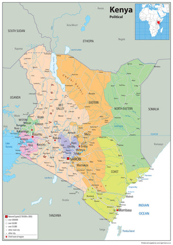 Kenya Political Map